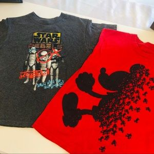 Star Wars & Mickey Mouse t shirts size 7